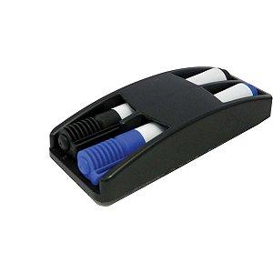 Apagador Quadro Branco Plastico Com Deposito Para Pincel Carbrink