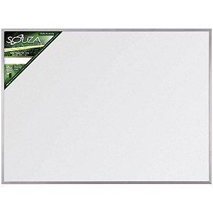 Quadro Branco Melamínico Fórmica 070x050 cm com Moldura de Alumínio Popular