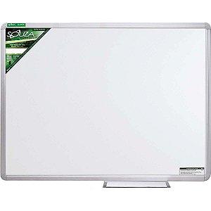 Quadro Branco Melamínico Fórmica 90x60 cm com Moldura de Alumínio Popular