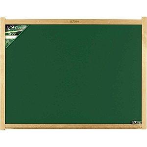 Quadro Escolar Verde 40x30cm Moldura Madeira Souza