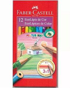 LÁPIS DE COR MISTURINHA ESTOJO C/12 CORES FABER-CASTELL