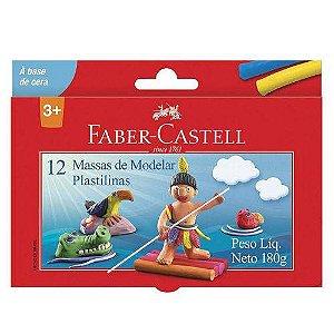Massa De Modelar - Base De Cera - 12 Cores - Faber-castell