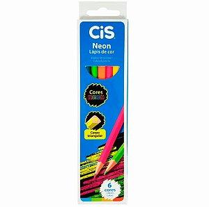 Lápis De Cor Neon 6 Cores Cis Sertic