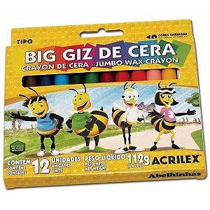 Big Giz De Cera Acrilex 12 Cores