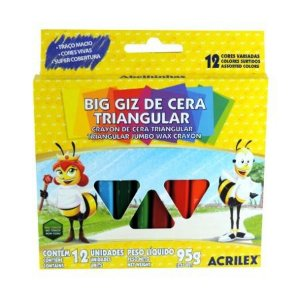 Big Giz De Cera Triangular Acrilex