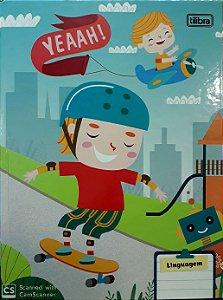 Caderno brochura capa dura linguagem - 40 folhas - Sapeca - Skate - Tilibra