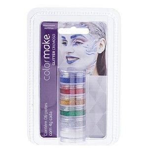 Colormake kit com 6 Glitter Cremoso