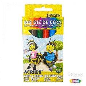 Big Giz de Cera Acrilex C/ 6 Un. 56g
