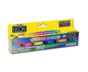 GUACHE NEON 6 CORES - 15 ML