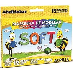 MASSINHA DE MODELAR SOFT C/12 ROLOS 180G