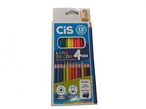 Lápis de Cor Triangular Cis 4mm 12 Cores