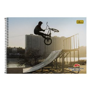 Caderno Espiral Capa Dura Cartografia e Desenho  D+ Bike 96 folhas Tilibra