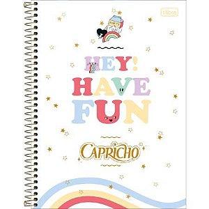 Caderno Espiral Capa Dura 1/4 80 FL Capricho C 1 UN Tilibra