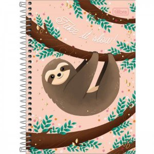 CADERNO ESPIRAL CAPA DURA 1/4 NAP NAP Take it slow - 80 FOLHAS
