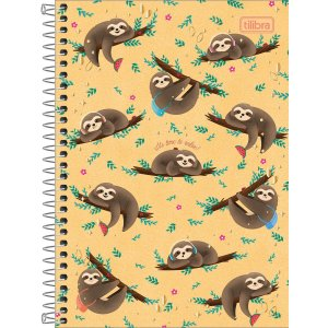 "CADERNO ESPIRAL CAPA DURA ""It´s time to relax"" 1/4 NAP NAP - 80 FOLHAS"