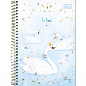 Caderno 1/4 Cisne Royal Be kind Tilibra 80folhas