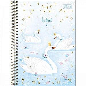 Caderno 1/4 Cisne Royal Be kind Tilibra 80folhas