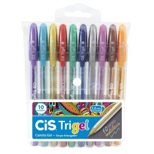 Caneta Cis Trigel Cores Metálica - 10 cores