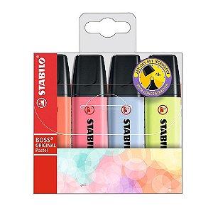 Marca texto Boss Pastel - Estojo com 4 cores - 70/4-3 - Stabilo