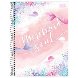 Caderno Tilibra Mermaid Soul - Wonder - 80fls
