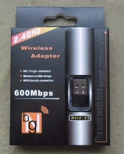 Adaptador Receptor Wireless Usb Wi-fi 600mbps