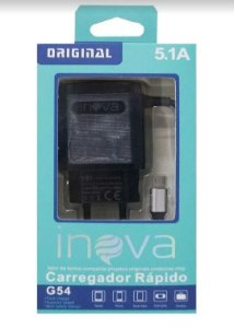 Carregador Rapido 5.1a Inova V8 Carga Rápido Super G54