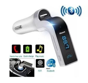 Transmissor Fm Carg7 Fm Card Bluetooth Car Charger Micro Sd