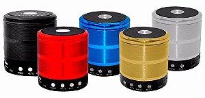 Mini Caixa Caixinha Som Portátil Bluetooth Mp3 Fm Sd Ws-887