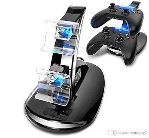 Base Carregadora Dock Charge Duplo P/ Controles De Xbox One