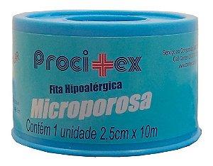 Fita Microporosa Procitex 2,5 Cm X 10 M Cremer  - 10 rolos