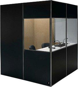 Cabine acústica para tradução simultânea  1,30 X 1,30 X 2,00 (L x C x A)