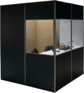 Cabine Acústica para tradução simultânea 1,00 X 1,00 X 2,00 (L x C x A)
