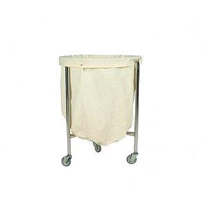 Suporte HAMPER HOSPITALAR INOX 150 litros aço inox