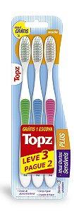 Escova Dental Topz Plus – Macia – PROMOPACK