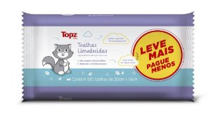 Toalhas Umedecidas Topz Baby 100un