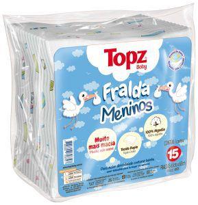 Fralda Maculino Topz Baby Pç 15 un- Estampada
