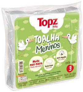 Toalha Menino Topz Baby Pç 3 Un