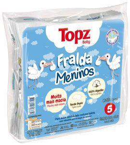 Fralda Maculino Topz Baby Pç 5 Um - Estampada