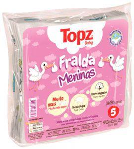 Fralda Feminino Topz Baby Pç 5 Un - Estampada