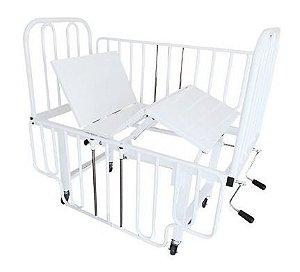 Cama hospitalar infantil 6 movimentos - Aço (duas manivelas)