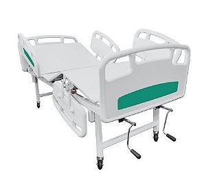 Cama hospitalar grades laterais material termoplástico 5 movimentos