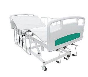 Cama Hospitalar 6 movimentos grades em aço