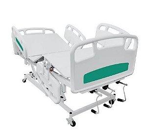 Cama hospitalar 6 movimentos grades em material termoplástico