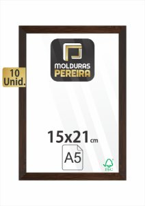Kit 10 Molduras 15x21 cm c/ Vidro