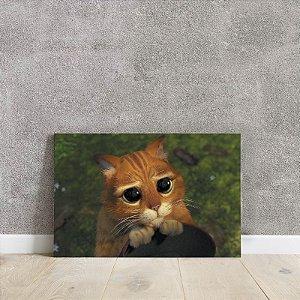 Placa decorativa do gato de botas