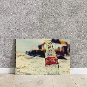 Placa decorativa da Coca cola
