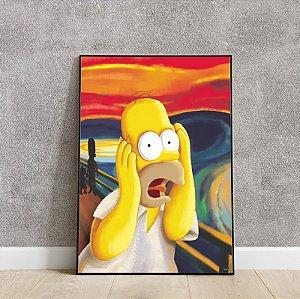 Placa decorativa Homer grito