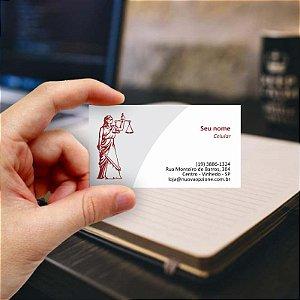 Cartão de visita para Advogado 1 - Econômico - 1000 unidades