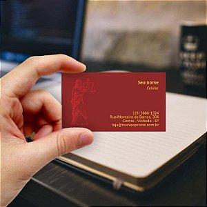 Cartão de visita para Advogado 3 - Econômico - 1000 unidades