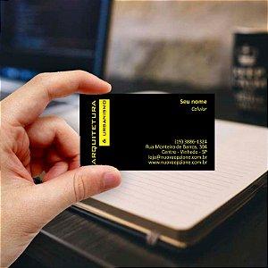 Cartão de visita para Arquiteto 3 Econômico - 1000 unidades